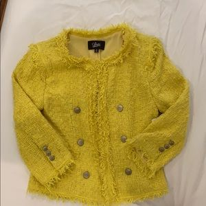 Yellow fringe channel/iro style jacket S